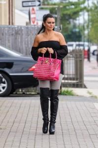 Jenni Jwoww Farley sexy on street