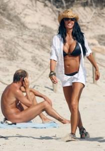 Katie Price beach paparazzi