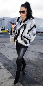 Katie Price leather pants paparazzi