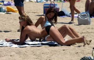 Katie Price topless beach paparazzi