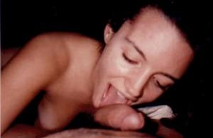 Kristin Davis sucking cock