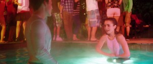 Lily Collins wet tshirt screen
