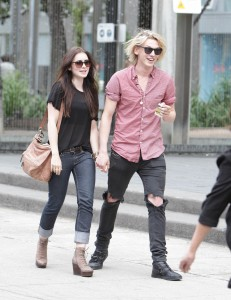 Lily Collins hot paparazzi street