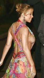 Mariah Carey boobs slip