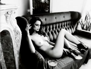 Reka Ebergenyi topless bw