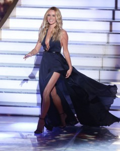 Amanda Holden on stage nip slip