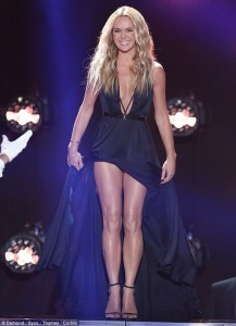 Amanda Holden on stage sexy