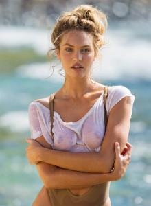 Candice Swanepoel see through nipples