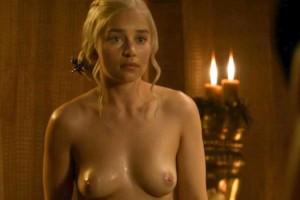 Emilia Clarke naked scene caps