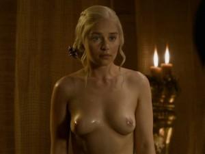 Emilia Clarke nipples screencaps