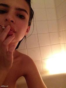 Emily Ratajkowski smoking