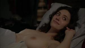 Emmy Rossum nipples screencaps