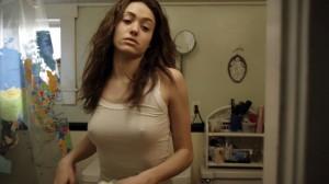 Emmy Rossum see through shirt screen