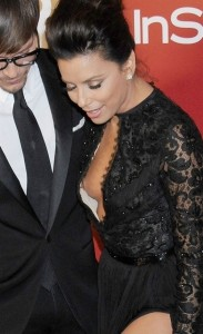Eva Longoria nipple slip paparazzi