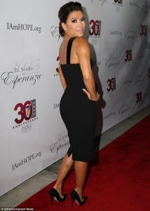 Eva Longoria paparazzi black dress
