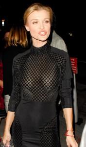 Joanna Krupa sexy see through dress paparazzi