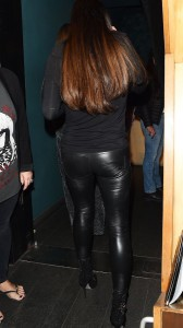 Katie Price leather pants