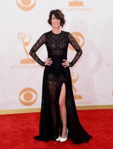 Lena Headey sexy black dress