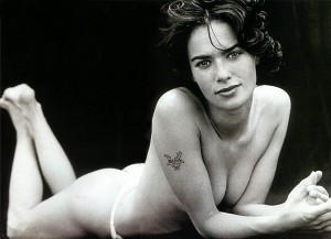 Lena Headey topless bw