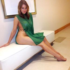 Maitland Ward green dress