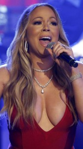 Mariah Carey cleavage on stage