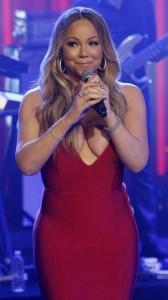 Mariah Carey hot big cleavage