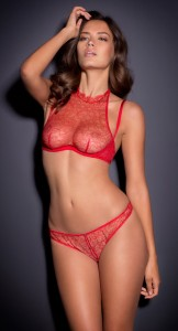 Michea Crawford see through red nipples