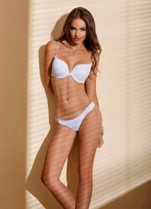 Nicole Meyer sexy white lingerie