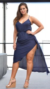 ashley-graham-hot-blue-dress