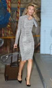 Abigail Clancy in sexy dress paparazzi photo