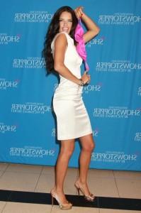 Adriana Lima Sexy in white dress