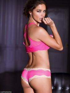 Adriana Lima sexy pink lingerie