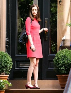 Anne Hathaway in mini dress