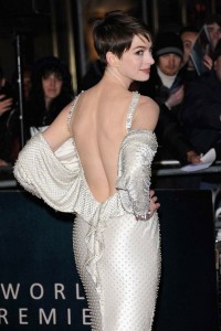 Anne Hathaway in sexy dress photo
