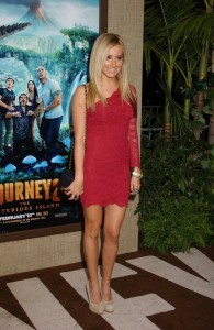 Ashley Tisdale in red dress