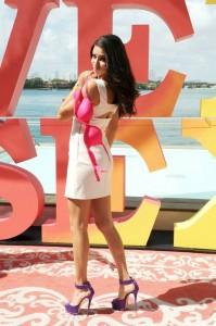 Hot Adriana Lima in sexy dress