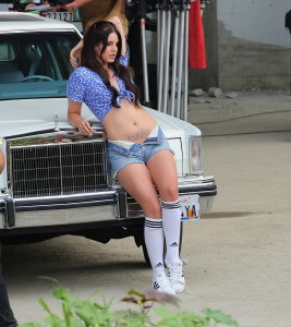 Lana Del Ray Films a Music Video in Skimpy Clothing