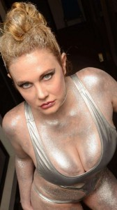 Maitland Ward in silver paint