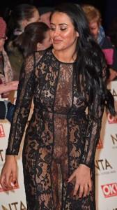 Marnie Simpson hot see thru dress