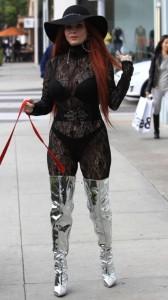 Phoebe Price black see thru dress