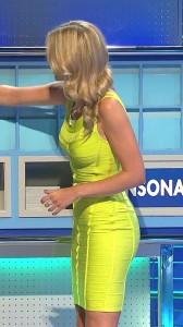 Rachel Riley sexy yellow dress