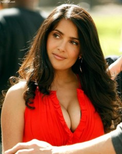 Salma Hayek big cleavage