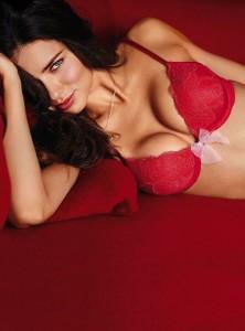 Sexy Adriana Lima in red bra