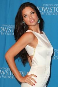 Sexy Adriana Lima in white dress