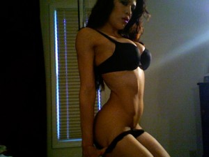 Melina Perez black sexy lingerie