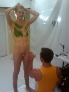 Yvonne Strahovski nipples leaked