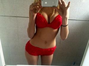 Adixia sexy red lingerie