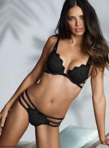 Adriana Lima sexy black bra