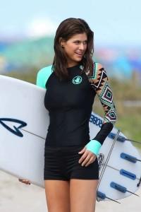 Alexandra Daddario sexy surf costume