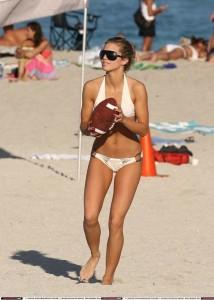 AnnaLynne McCord in white sexy bikini
